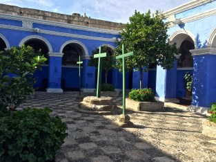 Nuns-in-training could spend 3 hours in this courtyard a day-the rest in their rooms