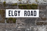 Street name sign Elgy Road