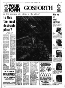 Article printted in the Newcastle Chronicle Tues Dec 16 1969. Your Town Gosforth