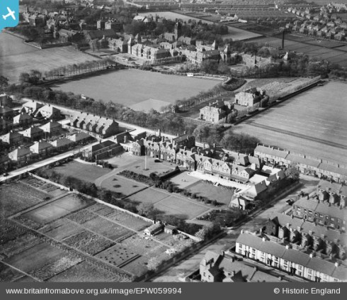Britain from Above image of Sanderson Hospital as it looked in