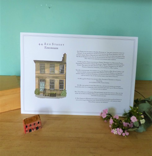 My Scottish Townhouse Story A3 poster photo ©Discovering Heritage