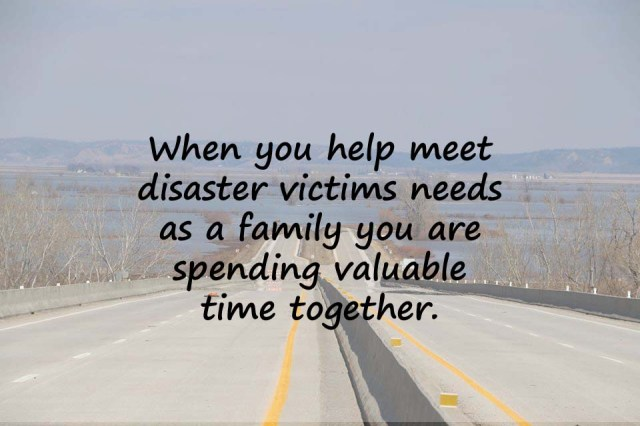 Make natural disasters for kids easier by making relief efforts a family affair