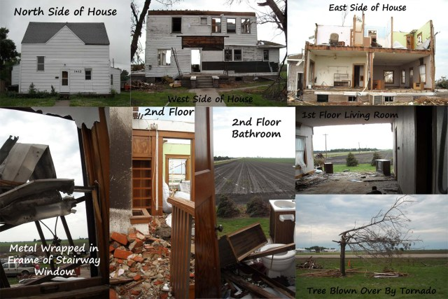 Natural Disasters List. House Damaged by EF3 tornado