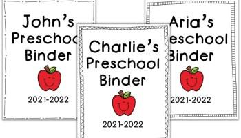 Preschool Binder Cover Free Printable