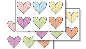 Valentine's Day Heart Alphabet Matching Activity for Preschool