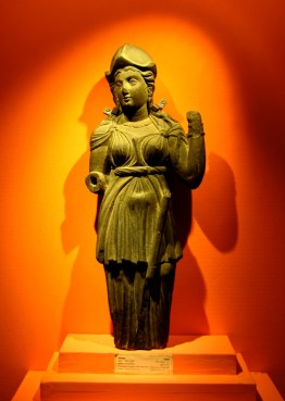 Gandharan Athena, Greek goddess of wisdom, 2nd century CE, Lahore Museum.