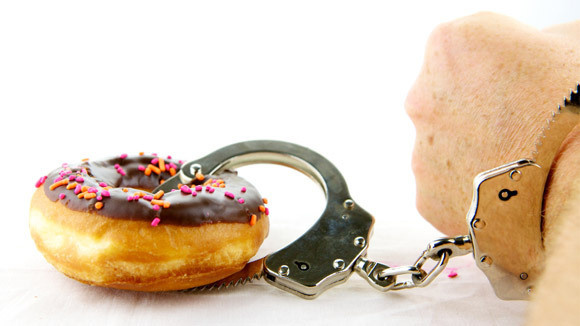 handcuffed to donuts