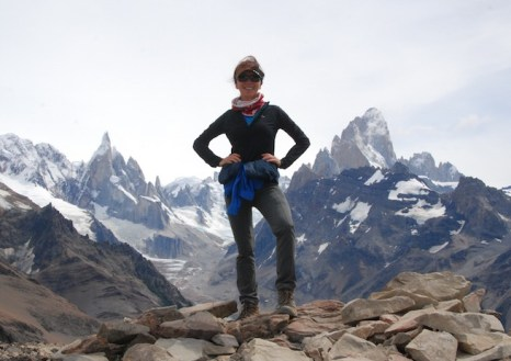 Laurie Hoer Hiking in Patagonia