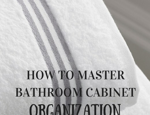 Tips on finally getting your bathroom organized