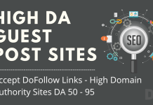 Dofollow backlinks Guest Post Sites
