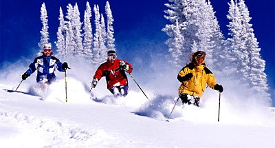 Skiing on snow