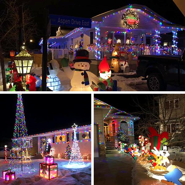 Winning houses for Light Up Leduc - Photo Credits: leduc.ca
