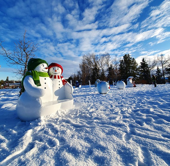 Christmas displays near Telford Lake, Leduc, AB