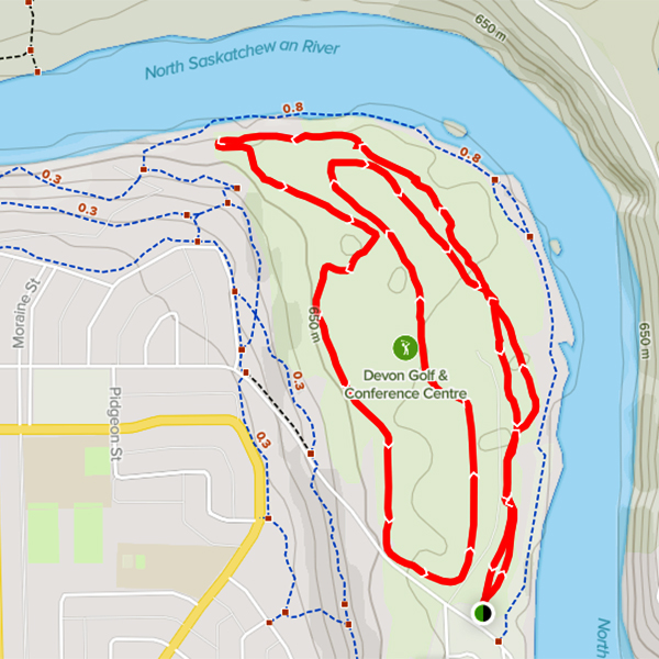 Cross-Country Ski Trail Map - Devon Golf & Conference Centre