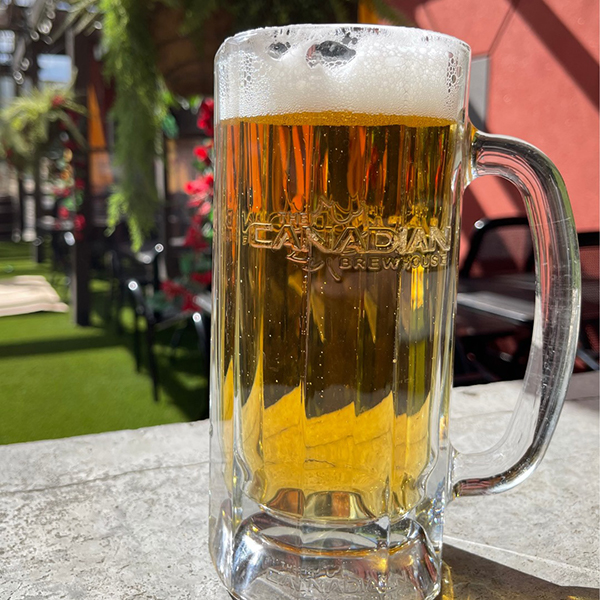 Patio Beer at The Canadian Brewhouse Leduc