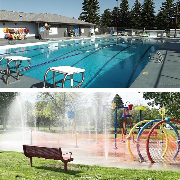 Top: Devon Community Pool Bottom: Devon Splash Park