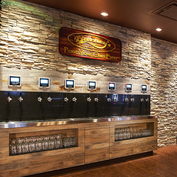 Barney's Pour-Your-Own Beer Wall
