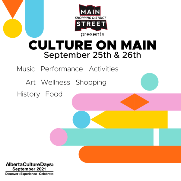 Culture on Main: Sep 25 + 26, 2021