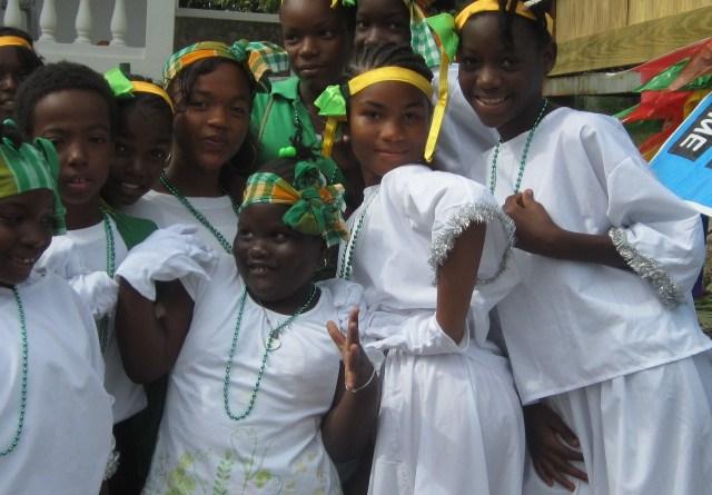 St. Augustine Students at St. Patrick's Festival on Montserrat - 2012 (Nerissa Golden Photo)
