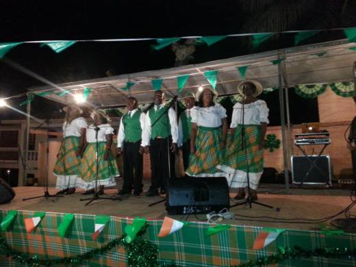 The Emerald Community Singers performing at the opening of the St. Patrick's Festival.