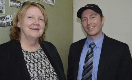 Jo Ann MacMillan and David Stiles of Statistics Canada.