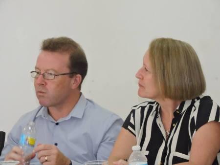 Head of DFID (MNI) martin Dawson and Moira Marshal- Senior Responsible Owner for Budget Aid (UK) (GOM Photo)