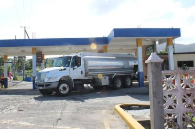 Drive Time photo of a tanker at the A&F Service Centre in St. Johns.