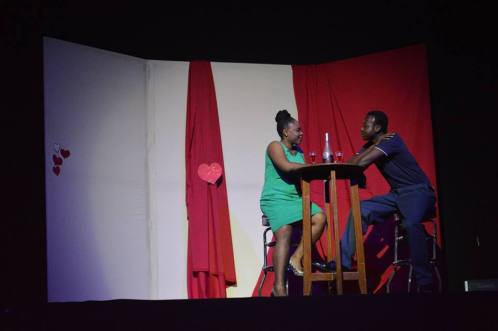 Broken hearted Delroy tries to date another woman.