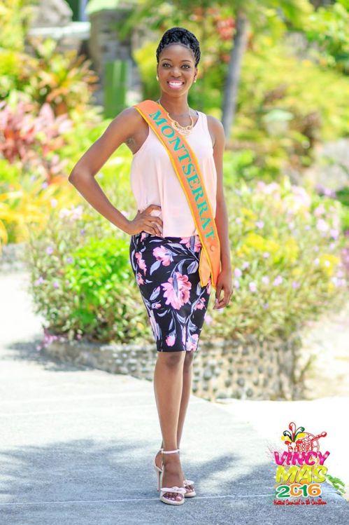 Miss Montserrat 2015/16 Tabeanna Tuitt (Vincy Mas Photo)