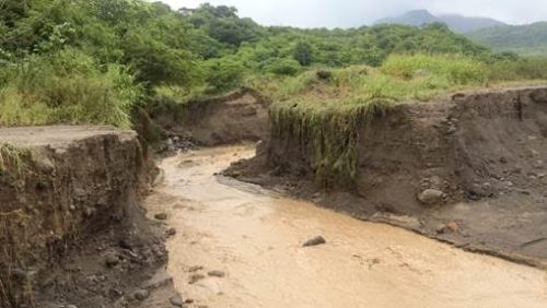 DMCA photos of the lahar in the Belham Valley from overnight rain fall.