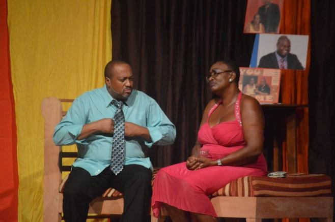 Kenneth 'Rabo' Silcott and Noreen Brade play Mr. & Mrs. Channing in The Impossible Situation