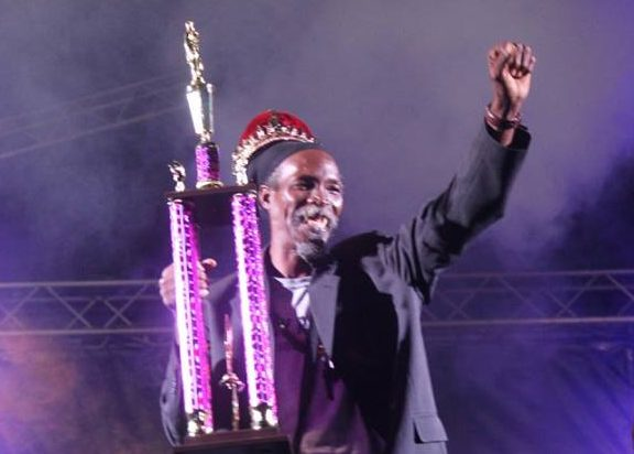 Spirit of Montserrat photo of King Natty after being crowned 2016 calypso monarch.