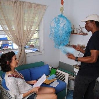 Howard Directs Kim Huffman in a scene from Deep Blue. (Ryan Singh Photo)