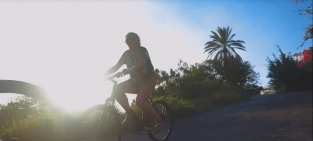 Riding bikes - screenshots from the new Montserrat Tourism video
