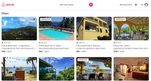 Screenshot of Airbnb Montserrat - listing