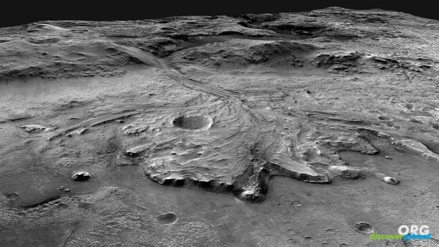 A possible route Perseverance could take across the Jezero crater