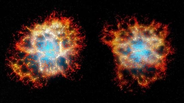 3D view of Crab Nebula
