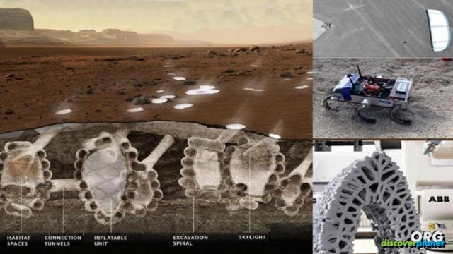 Group of swarming robots to excavate cities on Mars