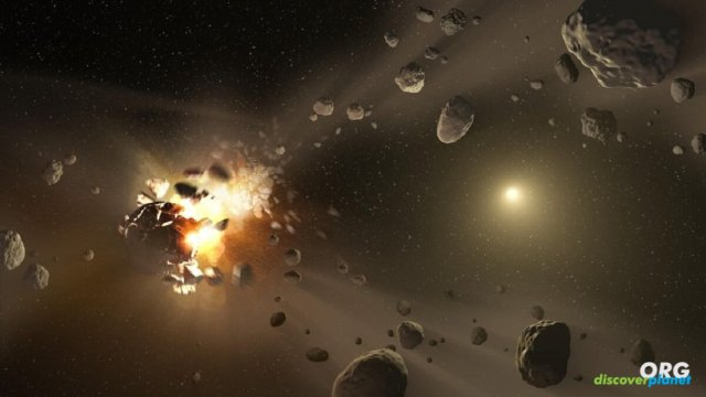 Did the heat from asteroid crashes aid the development of life?