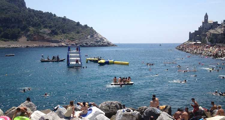 Natural swimming pool in Portovenere, Liguria