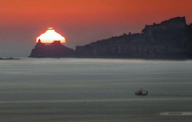 Sunset in Portovenere, Liguria - Image Credit & Copyright: Paolo Lazzarotti