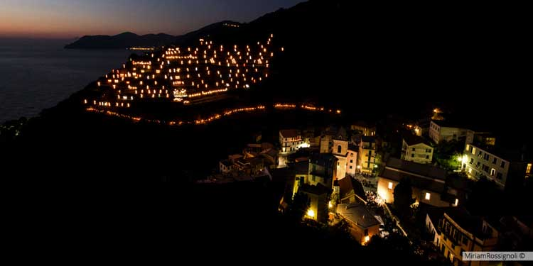 Manarola and the Luminous Nativity Scene