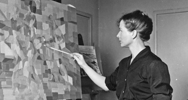 Hélène de Beauvoir in the Gulf of Poets, Liguria