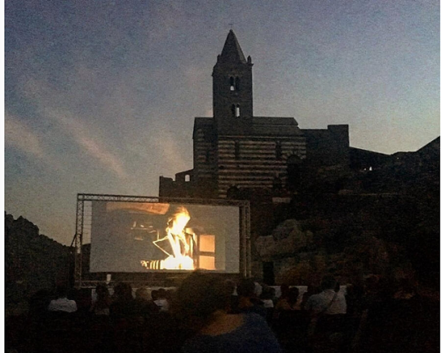Cinema under the stars in Portovenere