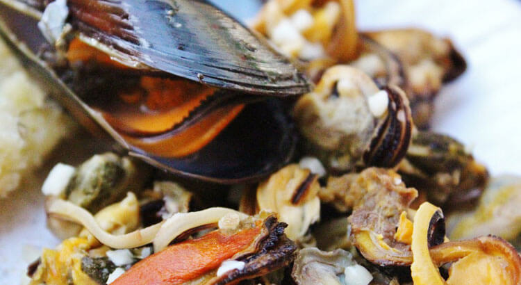 Seafood from Gulf of Poets Spezia mussels