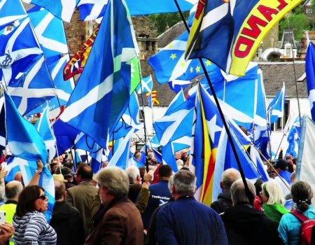 Scottish Independence March Galashiels