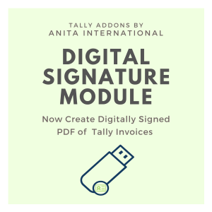 Digital Signature in Tally - Tally AddOn TDL