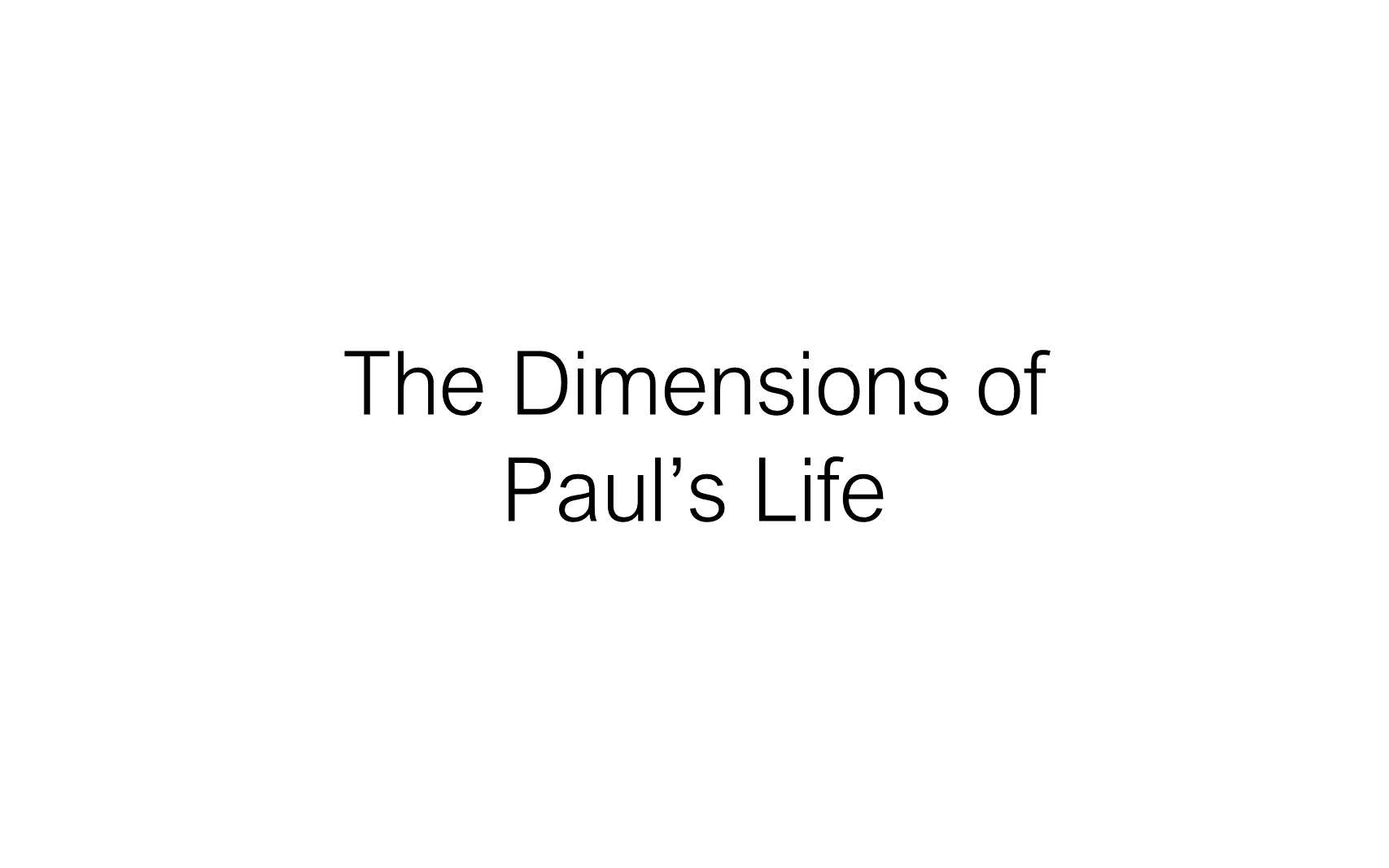 ESH-23 - The Discipline Of Disciple-Making - Paul - Used By God To Change The World (8)