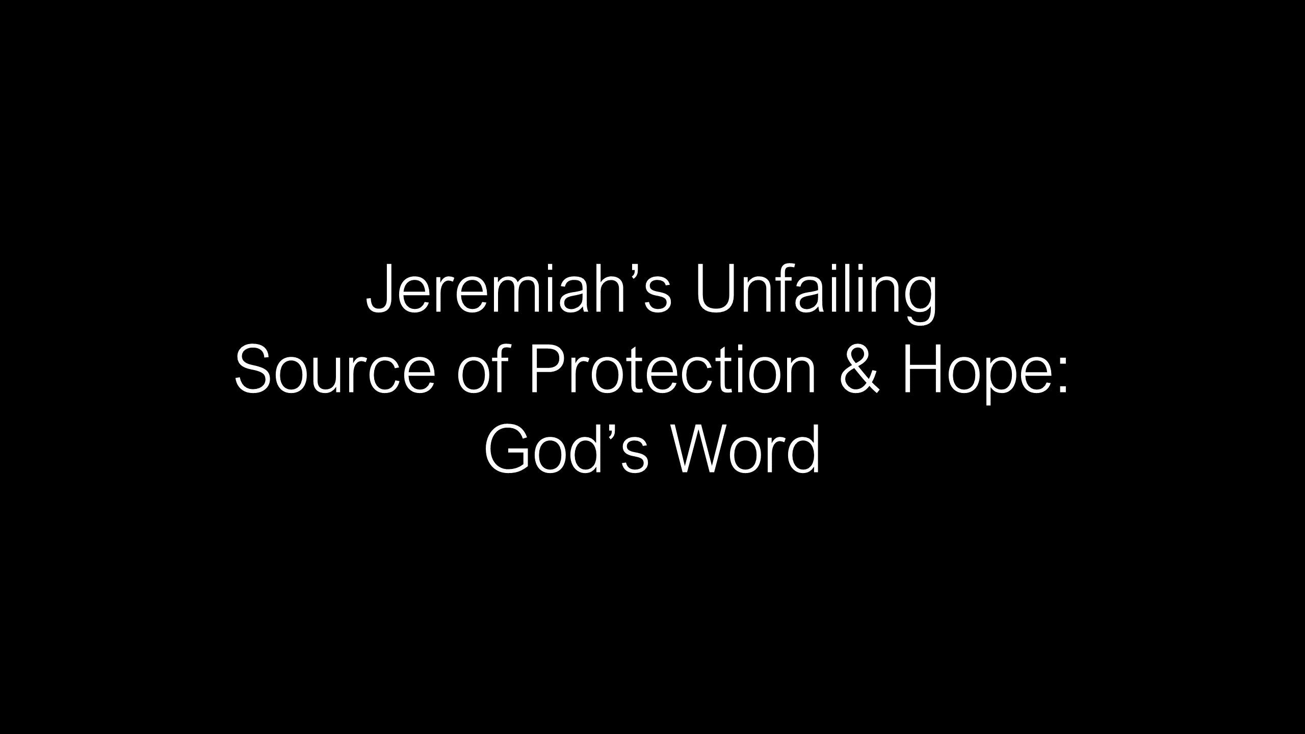 SWS-34 - Unleashing the Transforming Power of God's Word into Your Life - Exemplified by Jeremiah (13)
