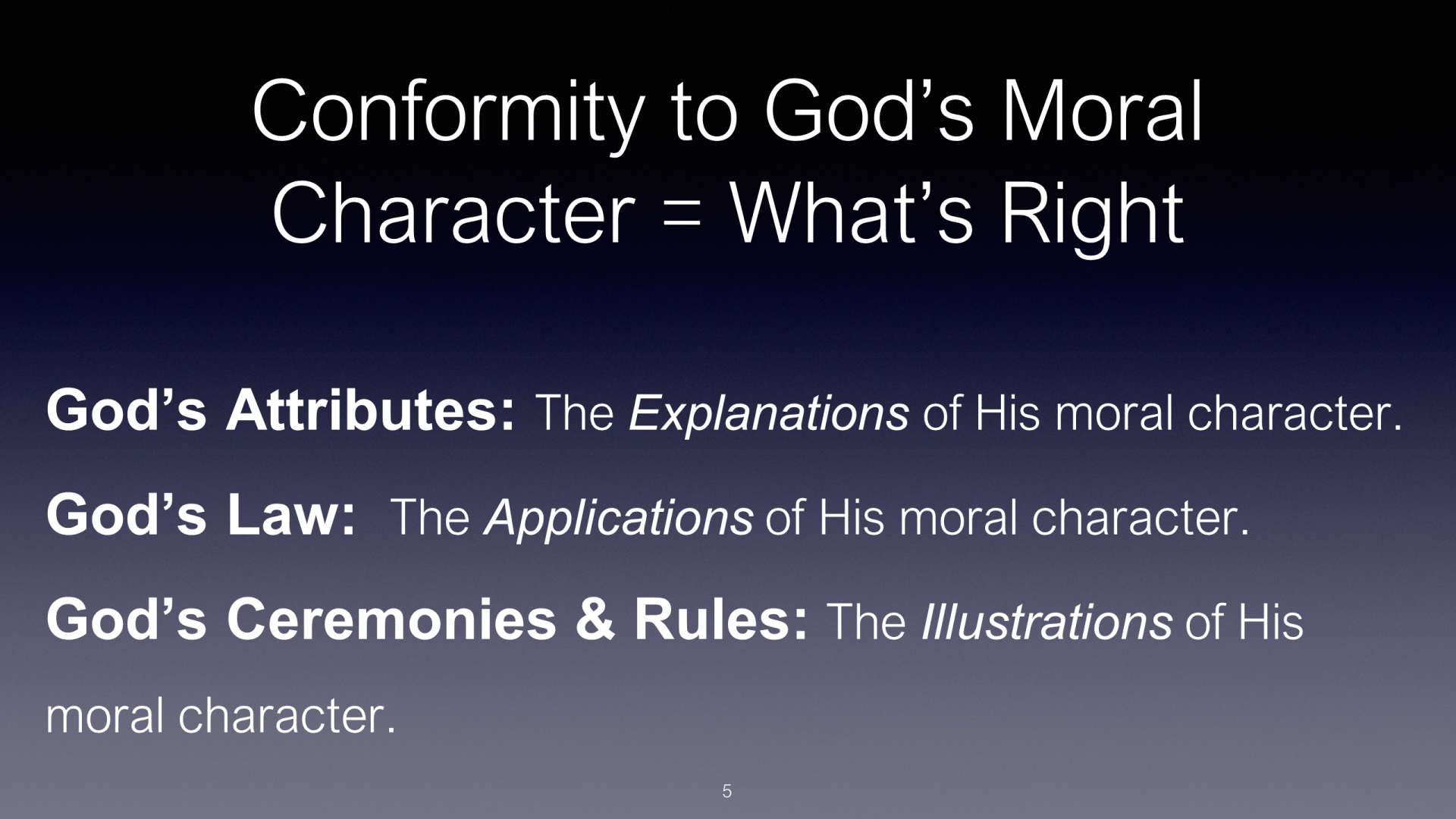 HFG-12 - Our God - Revelaled Through His Attributes, Reflected in His Law, and Illustrated by His Ceremonies (5)